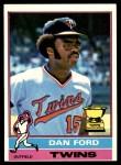 1976 Topps #313  Dan Ford  Front Thumbnail