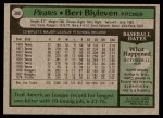 1979 Topps #308  Bert Blyleven  Back Thumbnail