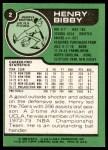 1977 Topps #2  Henry Bibby  Back Thumbnail