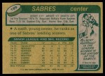 1980 Topps #199  Derek Smith  Back Thumbnail