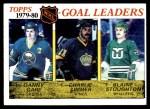 1980 Topps #161   -  Danny Gare / Charlie Simmer / Blaine Stoughton Goal Leaders Front Thumbnail