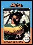 1975 Topps #300  Reggie Jackson  Front Thumbnail