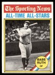 1976 Topps #345   -  Babe Ruth All-Time All-Stars Front Thumbnail