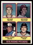 1976 Topps #597   -  Don Aase / Jack Kucek / Frank LaCorte / Mike Pazik Rookie Pitchers   Front Thumbnail