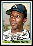 1976 Topps Traded #85 T Mickey Rivers  Front Thumbnail