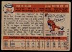 1957 Topps #63  Ike Delock  Back Thumbnail