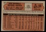 1972 Topps #677  Ivan Murrell  Back Thumbnail
