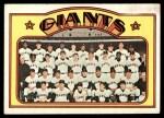 1972 Topps #771   Giants Team Front Thumbnail