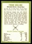 1963 Fleer #44  Frank Bolling  Back Thumbnail