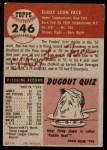 1953 Topps #246  Roy Face  Back Thumbnail