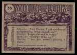 1973 Topps You'll Die Laughing #55   OK Buddy let's see your license Back Thumbnail