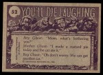 1973 Topps You'll Die Laughing #52   Come on in! Back Thumbnail