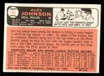 1966 Topps #104 ^TR^ Alex Johnson  Back Thumbnail