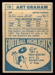 1968 Topps #150  Art Graham  Back Thumbnail