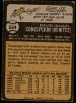 1973 Topps #554  Dave Concepcion  Back Thumbnail