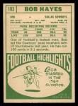 1968 Topps #103  Bob Hayes  Back Thumbnail