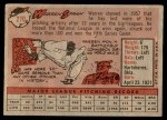 1958 Topps #270  Warren Spahn  Back Thumbnail