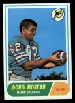 1968 Topps #144  Doug Moreau  Front Thumbnail