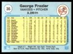 1982 Fleer #35  George Frazier  Back Thumbnail