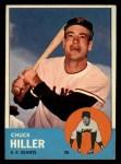 1963 Topps #185 ERR Chuck Hiller  Front Thumbnail