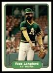 1982 Fleer #98  Rick Langford  Front Thumbnail