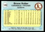 1982 Fleer #129  Bruce Sutter  Back Thumbnail