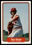 1982 Fleer #69  Tom Hume  Front Thumbnail
