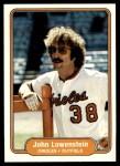 1982 Fleer #169  John Lowenstein  Front Thumbnail