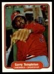 1982 Fleer #131  Garry Templeton  Front Thumbnail