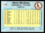 1982 Fleer #122  Silvio Martinez  Back Thumbnail
