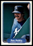 1982 Fleer #38  Ron Guidry  Front Thumbnail