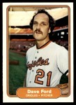 1982 Fleer #166  Dave Ford  Front Thumbnail