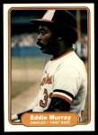 1982 Fleer #174  Eddie Murray  Front Thumbnail