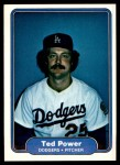 1982 Fleer #17  Ted Power  Front Thumbnail