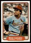 1982 Fleer #119  Sixto Lezcano  Front Thumbnail