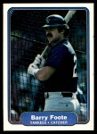 1982 Fleer #34  Barry Foote  Front Thumbnail