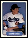 1982 Fleer #16  Tom Niedenfuer  Front Thumbnail