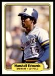 1982 Fleer #140  Marshall Edwards  Front Thumbnail