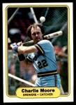1982 Fleer #150  Charlie Moore  Front Thumbnail