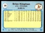 1982 Fleer #96  Brian Kingman  Back Thumbnail