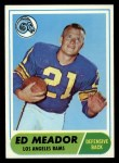 1968 Topps #106  Ed Meador  Front Thumbnail