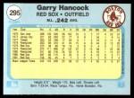 1982 Fleer #295  Garry Hancock  Back Thumbnail