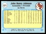 1982 Fleer #321  John Henry Johnson  Back Thumbnail