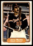 1982 Fleer #394  Jerry Martin  Front Thumbnail