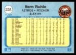 1982 Fleer #228  Vern Ruhle  Back Thumbnail