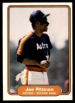 1982 Fleer #222  Joe Pittman  Front Thumbnail