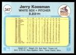 1982 Fleer #347  Jerry Koosman  Back Thumbnail