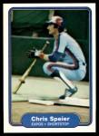 1982 Fleer #209  Chris Speier  Front Thumbnail