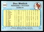 1982 Fleer #324  Doc Medich  Back Thumbnail