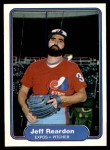 1982 Fleer #204  Jeff Reardon  Front Thumbnail